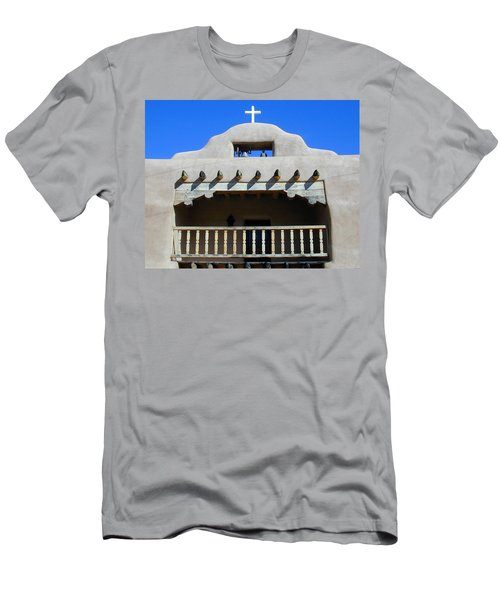 Men's T-Shirt (Athletic Fit) featuring the photograph Abiquiu Church Number 2 by Joseph R Luciano