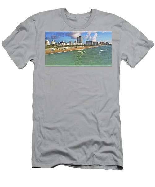 Above South Beach  Men's T-Shirt (Athletic Fit)