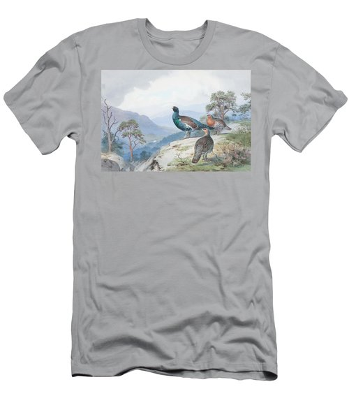 Above The Forest, Capercaillie And Grouse Men's T-Shirt (Athletic Fit)