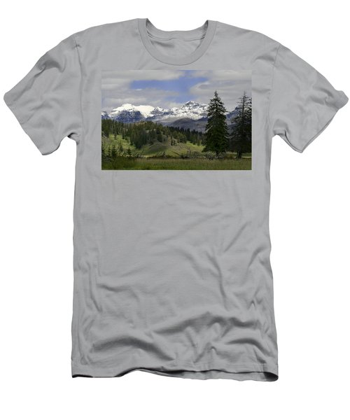 Absaroka Mts Wyoming Men's T-Shirt (Athletic Fit)