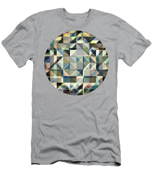 Abstract Earth Tone Grid Men's T-Shirt (Athletic Fit)