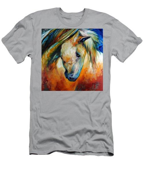 Abstract Equine Eccense Men's T-Shirt (Slim Fit) by Marcia Baldwin