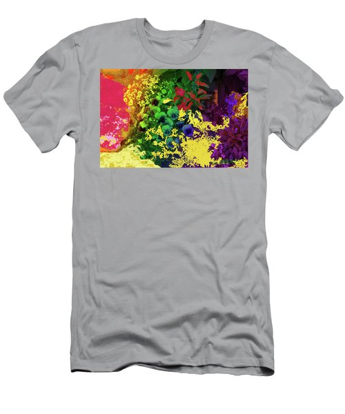 Abstract Flowers Of Light Series #2 Men's T-Shirt (Athletic Fit)