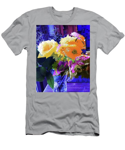 Abstract Flowers Of Light Series #7 Men's T-Shirt (Athletic Fit)
