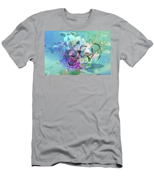 Abstract Flowers Of Light Series #9 Men's T-Shirt (Athletic Fit)