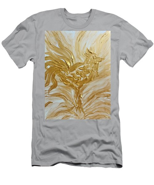 Abstract Golden Rooster Men's T-Shirt (Athletic Fit)