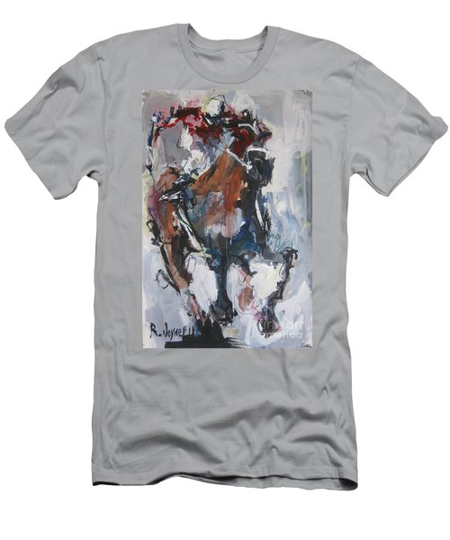 Abstract Horse Racing Painting Men's T-Shirt (Athletic Fit)