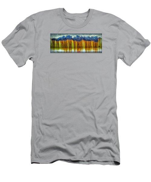 Junkyard Abstract Men's T-Shirt (Slim Fit) by Walt Foegelle