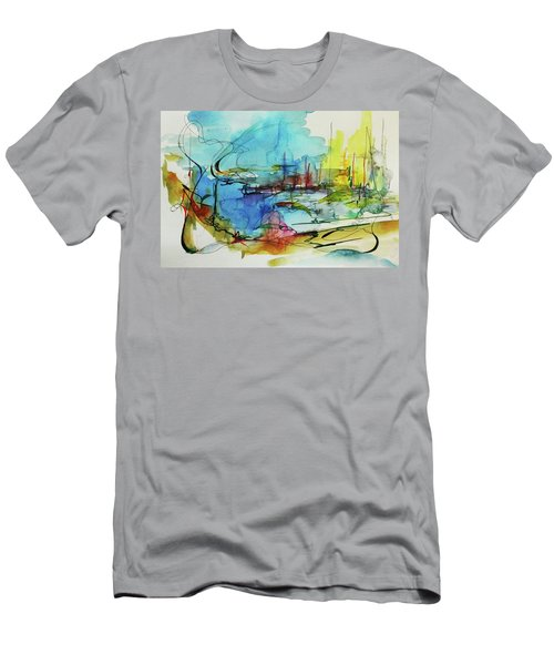 Abstract Landscape #1 Men's T-Shirt (Athletic Fit)