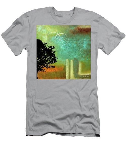 Abstract Modern Art Eternity Men's T-Shirt (Slim Fit) by Saribelle Rodriguez