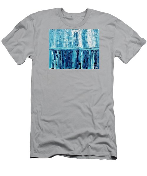 Abstract Niagra Falls Men's T-Shirt (Athletic Fit)