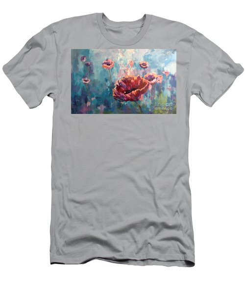 Abstract Poppy Men's T-Shirt (Athletic Fit)