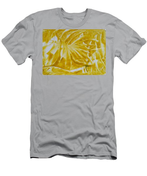 Abstract Yellow  Men's T-Shirt (Athletic Fit)