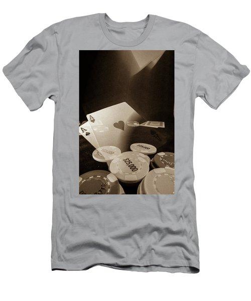 Aces Up Men's T-Shirt (Slim Fit) by Mark Dunton