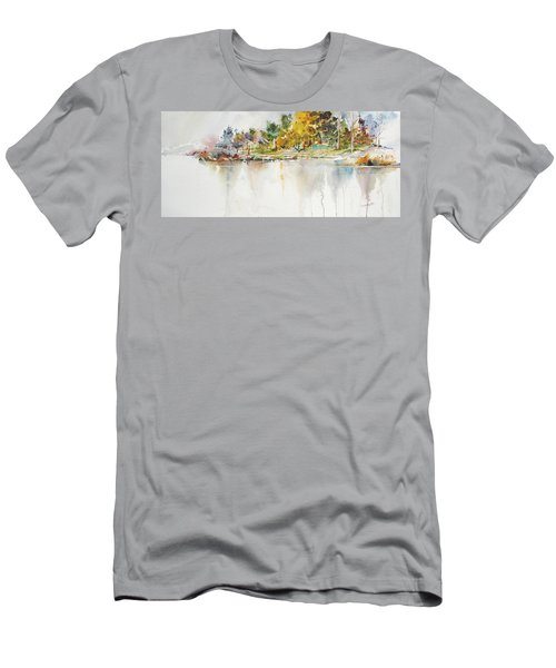Across The Pond Men's T-Shirt (Slim Fit) by P Anthony Visco