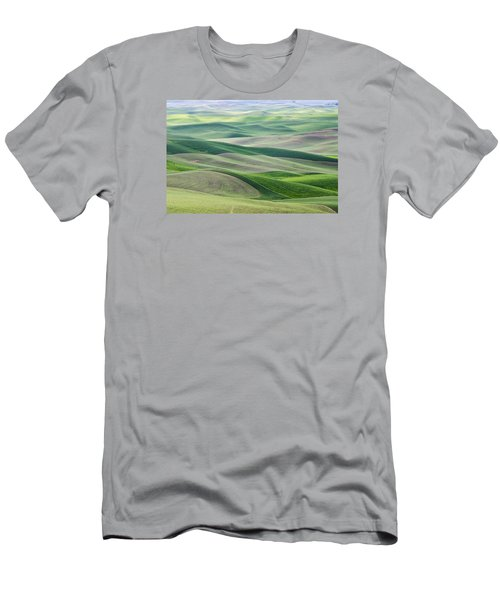 Men's T-Shirt (Slim Fit) featuring the photograph Across The Valley by Wanda Krack
