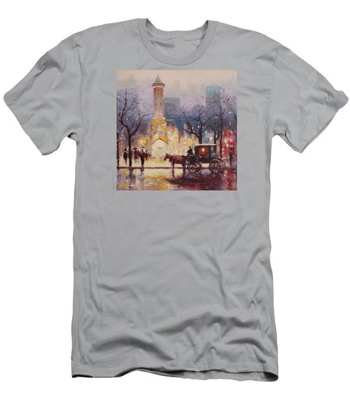 Acrylic Msc 054 Men's T-Shirt (Slim Fit) by Mario Sergio Calzi