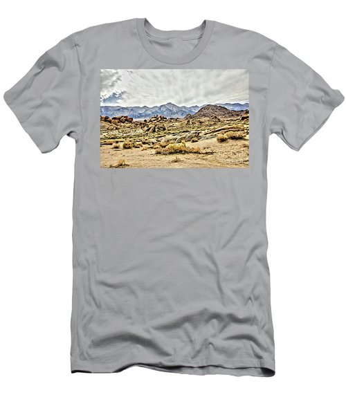 Acrylic Painting Rocks, Mountains And Sky At Alabama Hills, The Men's T-Shirt (Athletic Fit)