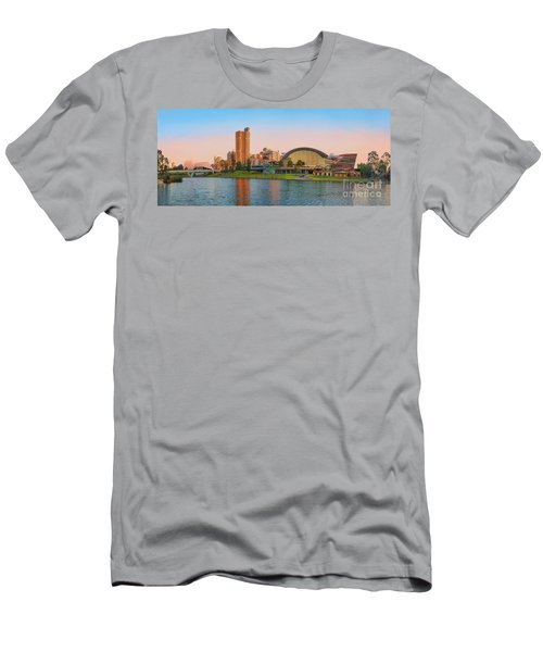 Adelaide Riverbank Panorama Men's T-Shirt (Athletic Fit)