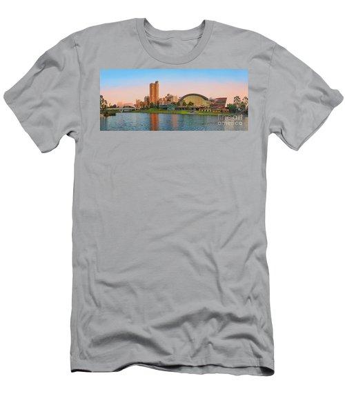 Adelaide Riverbank Panorama Men's T-Shirt (Athletic Fit)