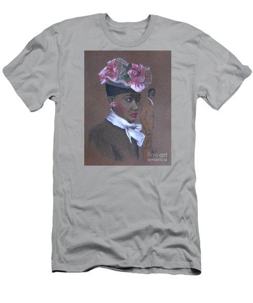 Admirer, 1947 Easter Bonnet -- The Original -- Retro Portrait Of African-american Woman Men's T-Shirt (Athletic Fit)