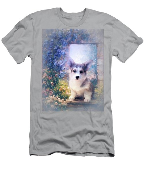 Adorable Corgi Puppy Men's T-Shirt (Athletic Fit)