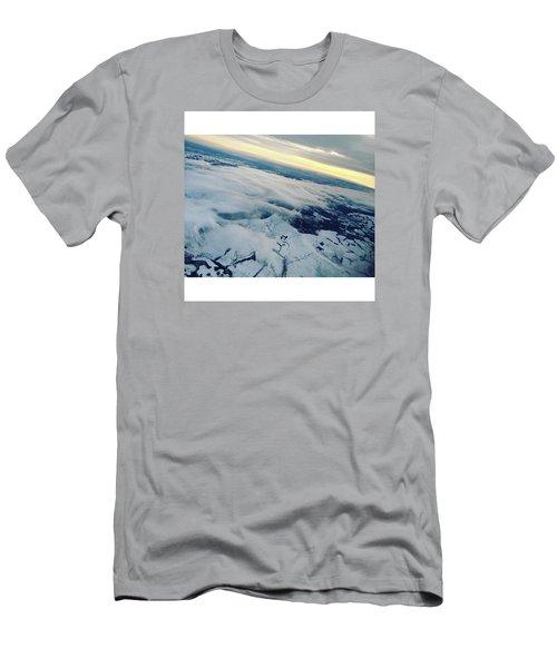 Edinburgh Winter Sunset Men's T-Shirt (Slim Fit) by Patsy Jawo