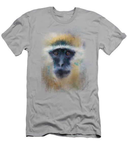 African Grivet Monkey Men's T-Shirt (Slim Fit) by Jai Johnson