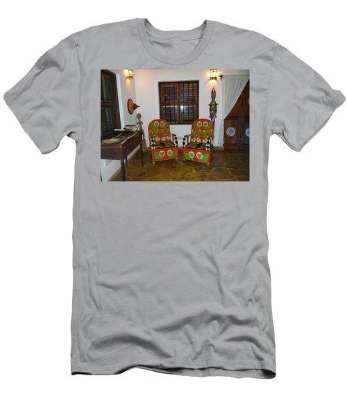 African Interior Design 5 Beaded Chairs Men's T-Shirt (Slim Fit) by Exploramum Exploramum