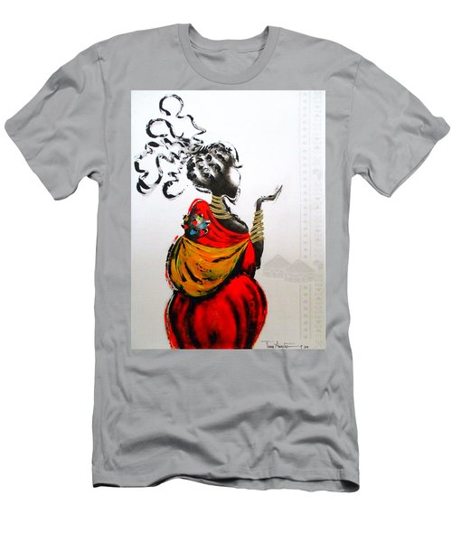 African Lady And Baby Men's T-Shirt (Athletic Fit)