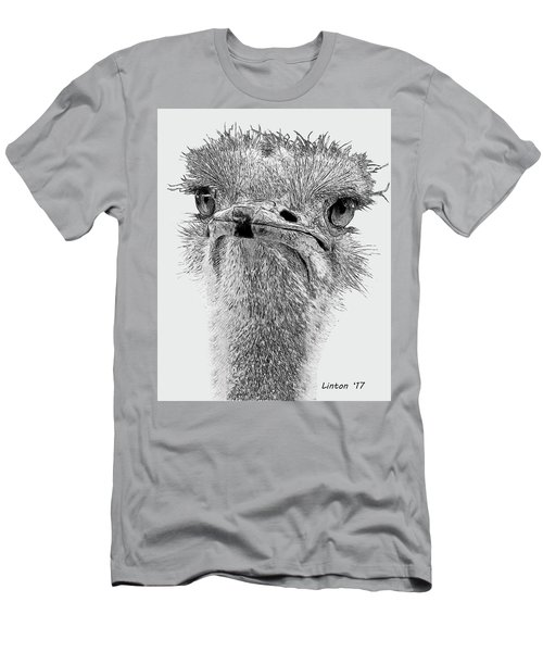 African Ostrich Sketch Men's T-Shirt (Athletic Fit)