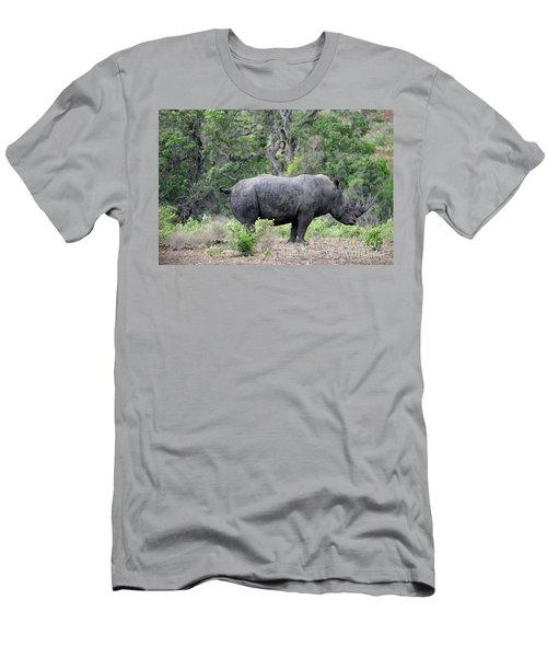 African Safari Naughty Rhino Men's T-Shirt (Slim Fit) by Eva Kaufman