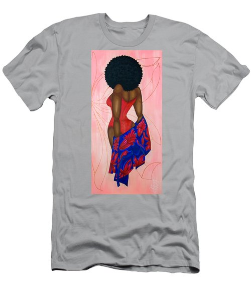 Men's T-Shirt (Athletic Fit) featuring the painting Afro-disiac by Aliya Michelle