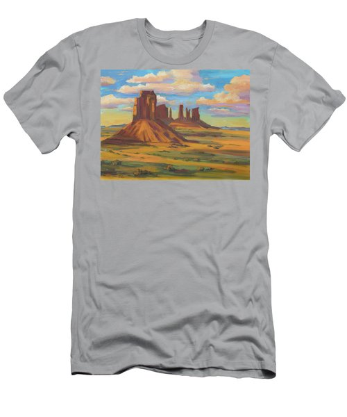 Men's T-Shirt (Slim Fit) featuring the painting Afternoon Light Monument Valley by Diane McClary