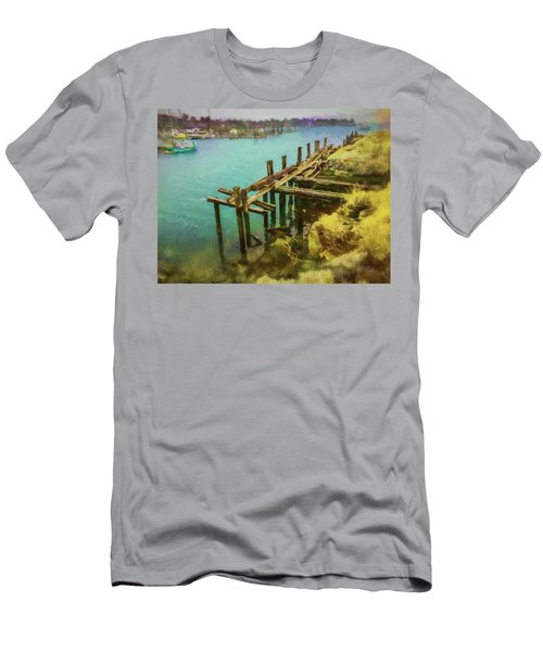 Aged Docks From Winthrop Men's T-Shirt (Athletic Fit)