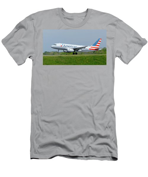 Airbus A319 Men's T-Shirt (Slim Fit) by Guy Whiteley