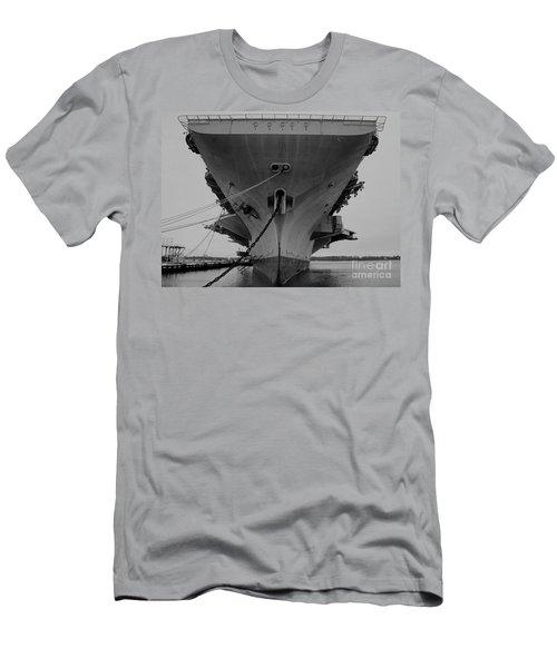 Aircraft Carrier Uss John F. Kennedy  Men's T-Shirt (Athletic Fit)
