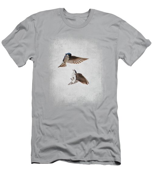 Airobatics - Tree Swallows Men's T-Shirt (Athletic Fit)