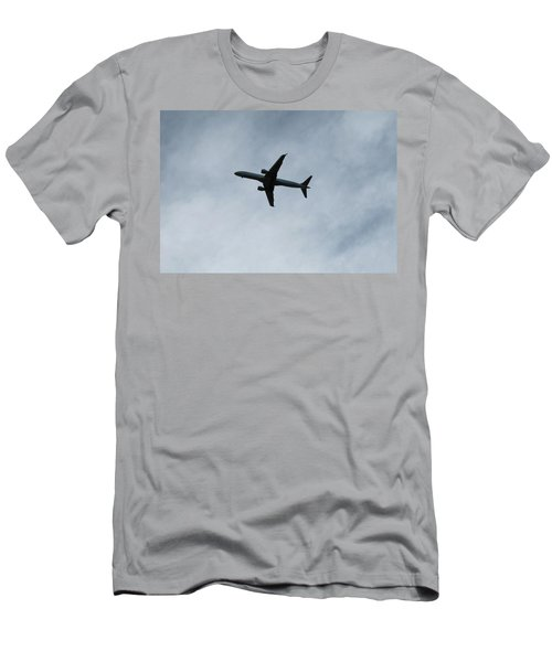 Airplane Silhouette Men's T-Shirt (Athletic Fit)