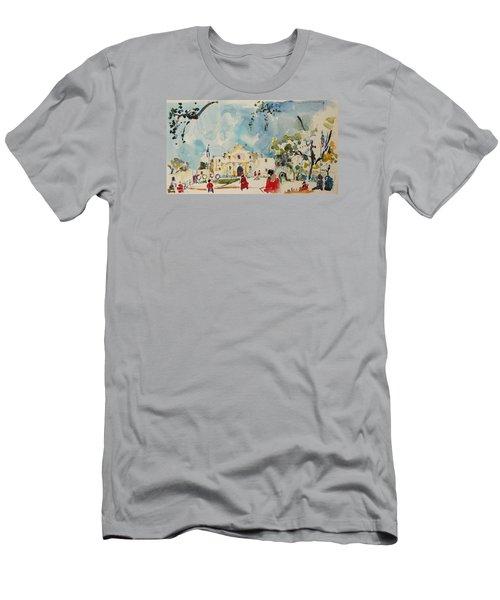 Alamo San Antonio Men's T-Shirt (Slim Fit) by Becky Kim