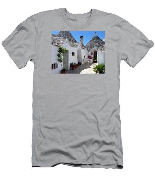 Alberobello Courtyard With Trulli Men's T-Shirt (Athletic Fit)