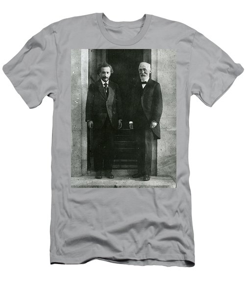 Albert Einstein And Hendrik Antoon Lorentz Men's T-Shirt (Athletic Fit)