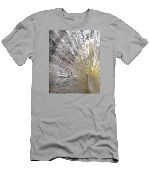 Pure White Peacock Men's T-Shirt (Athletic Fit)
