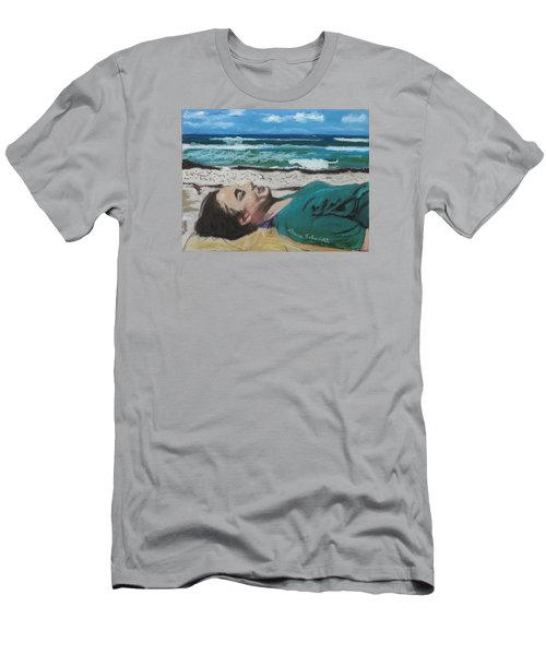 Granddaughter Alex At A Gulf Coast Beach, Florida Men's T-Shirt (Athletic Fit)