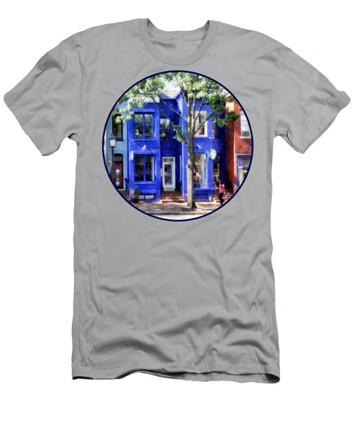 Alexandria Va - Colorful Street Men's T-Shirt (Athletic Fit)