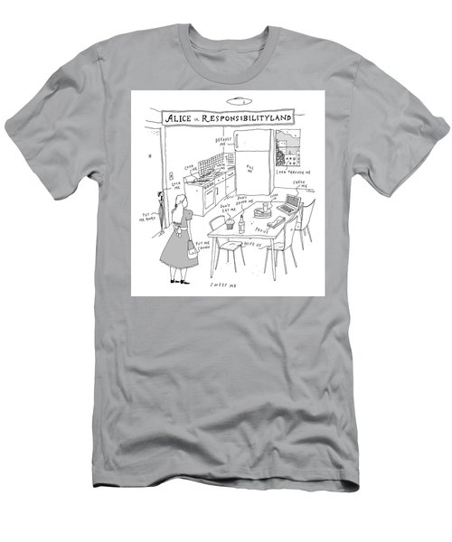 Alice In Responsibilityland Men's T-Shirt (Athletic Fit)