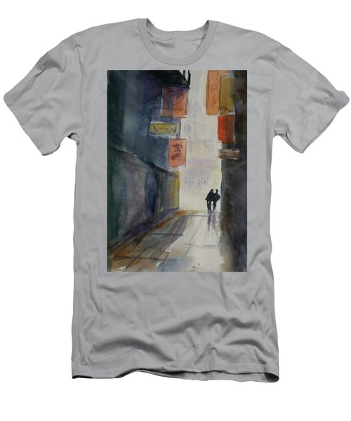 Alley In Chinatown Men's T-Shirt (Athletic Fit)