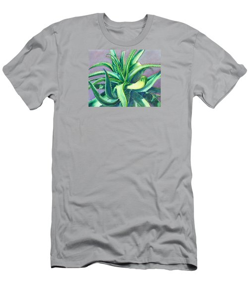 Aloe Vera Watercolor Men's T-Shirt (Athletic Fit)