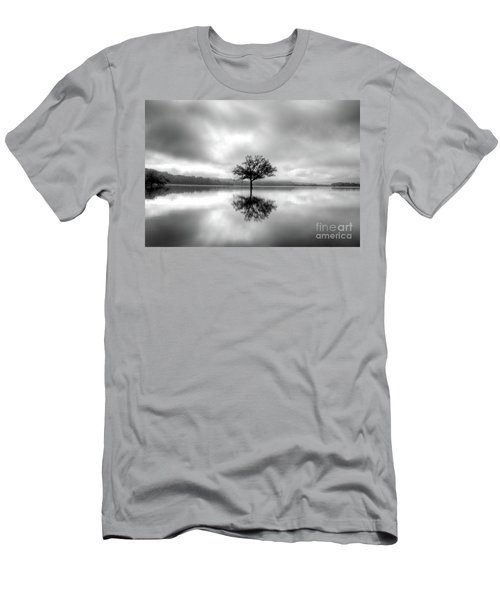Men's T-Shirt (Slim Fit) featuring the photograph Alone Bw by Douglas Stucky