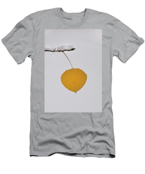 Men's T-Shirt (Athletic Fit) featuring the photograph Alone In The Snow by Ron Cline